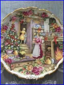 Royal Albert Christmas Plates Celebration Of Old Country Roses Garden 9 Plates