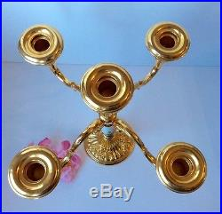 Royal Albert Doulton Old Country Roses 5 Light Candelabra Candlestick Gold