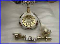 Royal Albert Doulton Old Country Roses Telephone 20 Carat Gold NEW