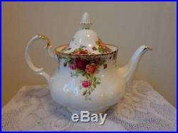 Royal Albert England Bone China Old Country Roses Large Tea Pot