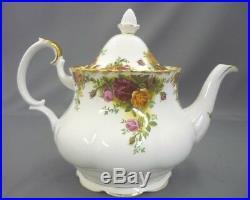 Royal Albert England Bone China Old Country Roses Teapot Tea Pot Large 6 Cup