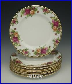 Royal Albert England Old Country Roses Set Of 8 Salad Plates Older Mark
