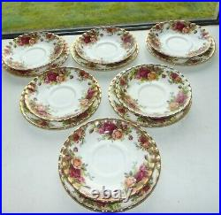 Royal Albert Fine China Old Country Roses 21 PC Cups Saucers Plates 1st Quality