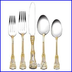 Royal Albert Flatware 18/10, Old Country Roses 65 Piece Set, Service for 12-New