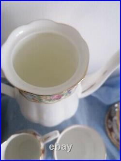 Royal Albert Lady Hamilton 21 piece coffee service all First quality