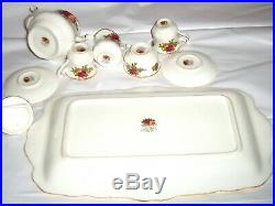 Royal Albert Miniature Tea Set, 9 pc. Old Country Roses, Bone China, 1962 with Box