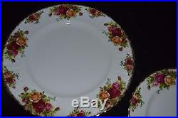 Royal Albert OLD COUNTRY ROSES 20 pcs 4 five pc PLACE SETTINGS ENGLAND EXC COND