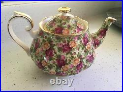 Royal Albert OLD COUNTRY ROSES CHINTZ Large Teapot