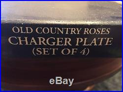Royal Albert OLD COUNTRY ROSES Gold Trim Set of 4 Gold Plate Charger 14