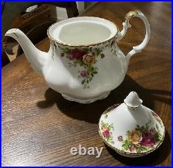 Royal Albert OLD COUNTRY ROSES Large Tea Pot Set 8 Teacups 8 Saucers NEW