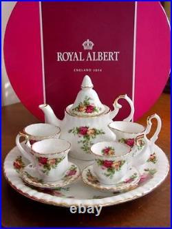 Royal Albert OLD COUNTRY ROSES Le Petite Miniature Mini Tea Set NEW IN BOX