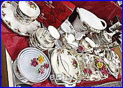 Royal Albert OLD COUNTRY ROSES Pattern 84 Pc. + BONUS! EXCELLENT (some new)