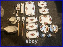 Royal Albert Old Country Rose China Set! 124 pieces! Made in England In 1962