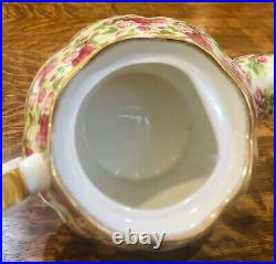 Royal Albert Old Country Rose Chintz Tea Set 4 Extra Large Teapot (8 cups)