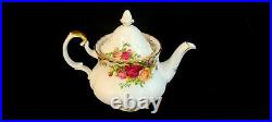 Royal Albert Old Country Rose Small 2 Cups Size Teapot England Really Rare WOW