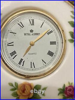 Royal Albert Old Country RosesSet Of Dishes, Quartz Clocks, Mini Vase, Cup