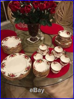 Royal Albert Old Country Roses 106 pc Service for 16 + BOWLS-NEW-UNUSED