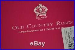 Royal Albert Old Country Roses 12- Piece Dinnerware Set, Service for 4