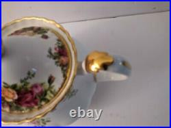Royal Albert Old Country Roses 1962 England 6 Cup Teapot With LID Mint
