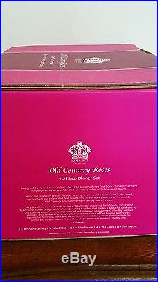 Royal Albert Old Country Roses 20 Piece Dinner Set Service for 4