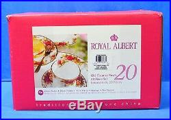 Royal Albert Old Country Roses 20 Piece Dinnerware Set Service for 4