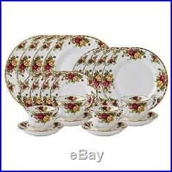 Royal Albert Old Country Roses 20-Piece Dinnerware Set, Service for 4, New, Free