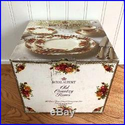 Royal Albert Old Country Roses 20 Piece Dinnerware Set of 4 NEW in Box Plates