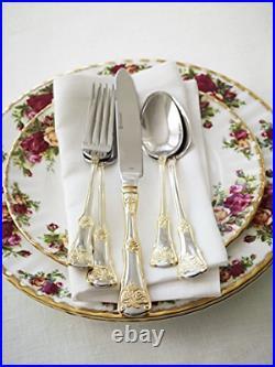 Royal Albert Old Country Roses 20-Piece Flatware Set, Golden