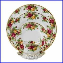 Royal Albert Old Country Roses 20 Piece Set, 4 Five Piece Place Setting
