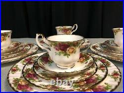 Royal Albert Old Country Roses 20 Piece Set In Box 4 Place Settings