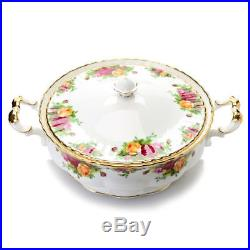 Royal Albert Old Country Roses 22K Gold Accented Bone China Covered Bowl