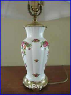 Royal Albert Old Country Roses 22 Brass Accent Table Lamp with Shade Lovely