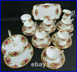Royal Albert Old Country Roses 22 Piece Tea Set Excellent