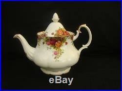 Royal Albert Old Country Roses 22 piece tea set large teapot