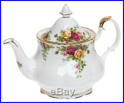 Royal Albert Old Country Roses 3-Piece Teapot Cup Creamer Tea Set England
