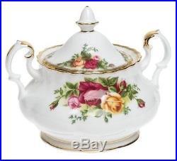 Royal Albert Old Country Roses 3-Piece Teapot Cup Creamer Tea Set England NEW