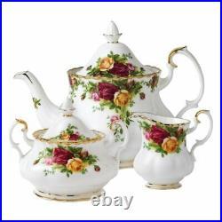 Royal Albert Old Country Roses 3 Piece Teapot Set