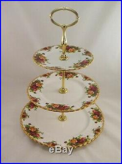 Royal Albert Old Country Roses 3 Tier Cake Stand Made in England as new