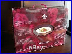 Royal Albert Old Country Roses 45 Piece Stainless Flatware in Chest NEW IN BOX