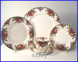 Royal Albert Old Country Roses 4 Five (5) Piece Place Settings Group #2