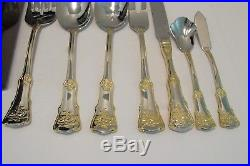 Royal Albert Old Country Roses 56 pc FLATWARE SET + BOX Stainless Gold Mint