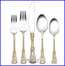 Royal Albert Old Country Roses 65 Piece Stainless Flatware Service for 12 NEW