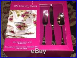 Royal Albert Old Country Roses 65 piece set Service for 12