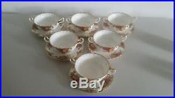 Royal Albert Old Country Roses 6 soup coupes saucers shipping to U. S. A. Daily