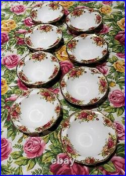 Royal Albert Old Country Roses 8 Soup Bowls Montrose Shape