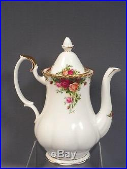 Royal Albert Old Country Roses Bone China Coffee Tea Set for 8 Cup Saucer Pot