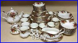 Royal Albert Old Country Roses Bone China Complete Dinner Set of 8 Places 60 PCS