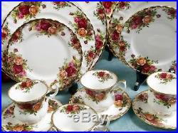 Royal Albert Old Country Roses Bone China Dinner Set for 8 Cup Saucer Tea