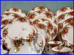 Royal Albert Old Country Roses Bone China Dinner Set for 8 Cup Saucer Tea Pot