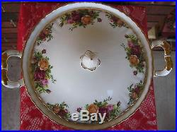 Royal Albert Old Country Roses Bone China covered casserole vegetable dish